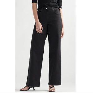 Thakoon Black High Waisted Straight Denim Trousers